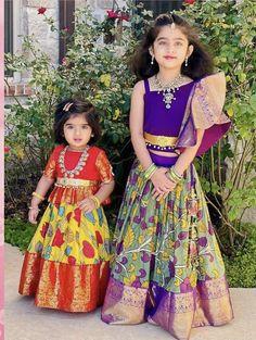 Baby Girl Frocks, Frocks For Girls, Baby Boy Dress, Dresses Kids Girl, Girl Outfits, Baby Lehenga, Kids Lehenga, Kids Dress Wear, Kids Gown