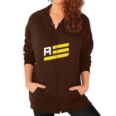 Flag Simple Zip Hoodie (on woman) Shirt