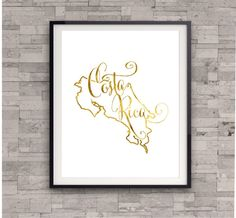 Costa Rica Map Print, GOLD FOIL PRINT, Home Country Map, Gold Art Print, Shiny Gold Print, Foil Art Print, Bedroom Wall Art, Travel Poster by TheDigitalStudio on Etsy https://www.etsy.com/listing/185357103/costa-rica-map-print-gold-foil-print