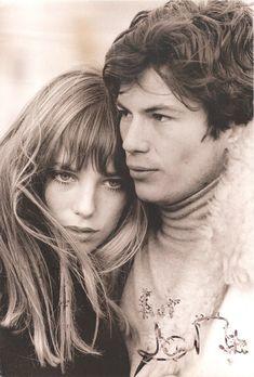 Renaud Verley and Jane Birkin in Les chemins de Katmandou directed by André Cayatte, 1969