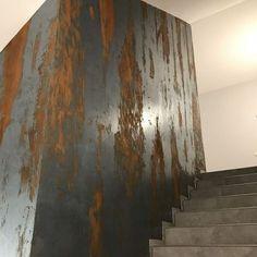 Diy Wall Art, Wall Decor, Half Painted Walls, Stucco Texture, Interior Wallpaper, House Front Design, Plaster Walls, Wall Finishes, Metal Panels