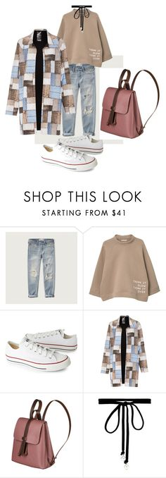 """Nudes"" by yinka-popoola on Polyvore featuring Abercrombie & Fitch, MANGO, Converse, Norma Kamali and Joomi Lim"