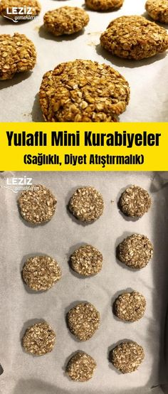 Oatmeal Mini Cookies (Healthy, Diet Snack) – My Delicious Food - Essen Cookies Healthy, Healthy Diet Snacks, Healthy Desserts, Healthy Recipes, Nutrition Education, Mini Cookies, Mini Desserts, Pasta, Gourmet Recipes
