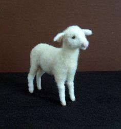 needle felted lamb