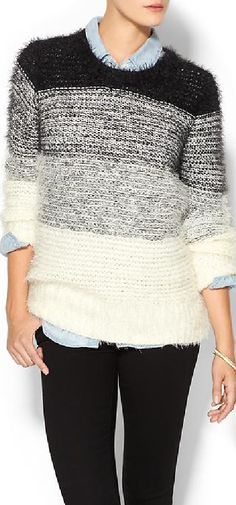 Piperlime Collection Striped Ombre Sweater
