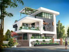 ultra-modern-home-design: 20 Bungalow Designs House Wall Design, Bungalow Haus Design, Duplex House Design, Townhouse Designs, House Front Design, Bungalow Designs, Modern Bungalow Exterior, Modern Exterior House Designs, Design Exterior