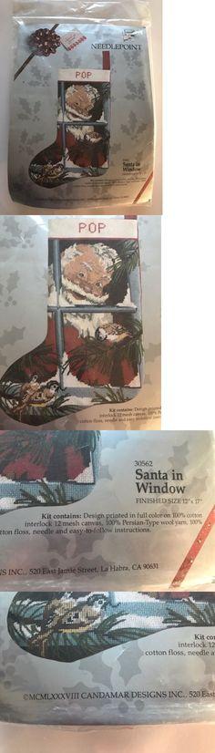 Needlepoint Kits 3109: Candamar Needlepoint Christmas Stocking Kit Santa In Window Holiday Craft Nos L1 -> BUY IT NOW ONLY: $64.99 on eBay!
