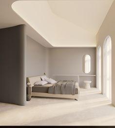 Architecture Durable, Interior Architecture, Interior Design, Elegant Homes, Minimalist Bedroom, Luxurious Bedrooms, Ceiling Design, Bathroom Interior, Behance
