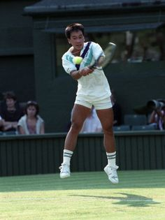 "Michael Chang - ""david"" in the tennis world.  The boy who slew a giant."