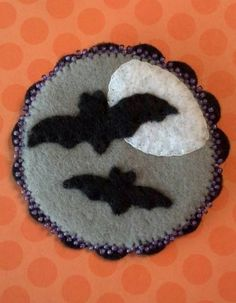 Bats In The Moonlight Pin - NEEDLEWORK. Craftster.org from LisasTeaTime