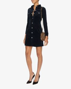 Alexa Chung for AG Pixie Corduroy Shirt Dress | Shop IntermixOnline.com