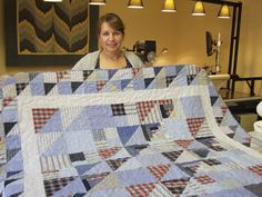 Chris made a quilt for her son using his shirts. So lovely!