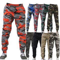 JOGGER Men Elastic Waist Drop Crotch Twill Harem Trousers Camouflage sweat pants #ABLANCHE #JOGGER