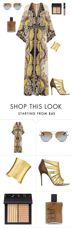 """""""PARTY IN CORAL GABLES"""" by stylev ❤ liked on Polyvore featuring Etro, Matthew Williamson, Stephanie Kantis, Christian Louboutin, NARS Cosmetics, women's clothing, women, female, woman and misses"""