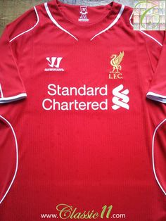 28382e966 2014 15 Liverpool Home Vintage Football Shirt   Official Soccer Jersey