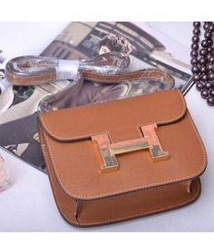 Replica Hermes Constance Mini Bag Earth Yellow Palm Print Leather HS017-11 - Voguekingbag.cn