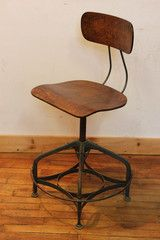 Toledo Uhl Draftsman Chair w/ Extra-Wide Footrest, ca 1940s
