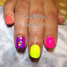 Gelish neon nails