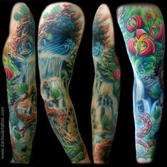 Skull tattoo sleeves - designs ideas - find tattoo, Sleeves are one of the best spots on body parts to show tattoos easily and all the time. Description from design.newtattoo.net. I searched for this on bing.com/images