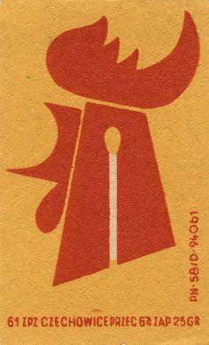 rooster - Czech matchbox label