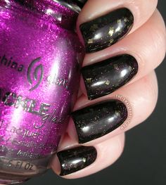 Layering jelly sandwich American Apparel Hassid China Glaze Crackle Glitter Glam-More Essence Circus Circus My Sparkling Acrobat Nfu Oh Jelly Syrup JS01 black jelly
