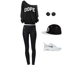 Imprezowa stylizacja w luźnych klimatach. Czapka fullcap i buty Nike Air Max.