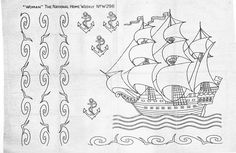 Ship, waves, and anchor transfer pattern