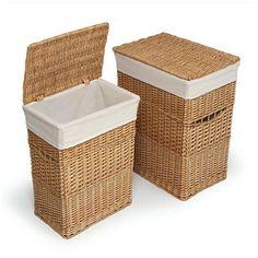 Badger Basket- Wicker Hampers (Set of 2) (More Colors Online) $52.99