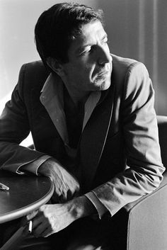 °lc° Leonard Cohen Photo by Tom Hill, taken during an interview at the Stouffer's Hotel in Atlanta on November 4th, 1975.