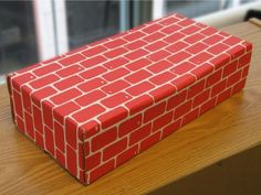 Cardboard brick blocks