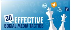 Top 30 effective social media tactics   [ #socialmedia #socialmediamarketing #tactics ]