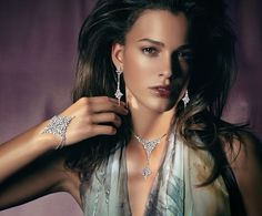 Rosendorff Indulgence Collection Diamond Necklace with Matching Earrings and Bracelet