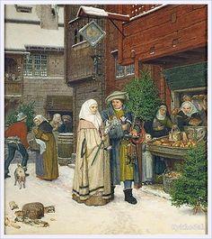 Georg von Rosen (Swedish,1843 -1923) «Christmas Market»