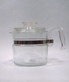 Vintage PYREX Flame Ware 6 Cup Glass Coffee Pot by Lifeinmommatone, $30.00