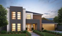 The Seville design needs a description. Cladding Panels, Exterior Paint Colors For House, Building Facade, Contemporary Architecture, Oslo, New Homes, Seville, Mansions, House Styles