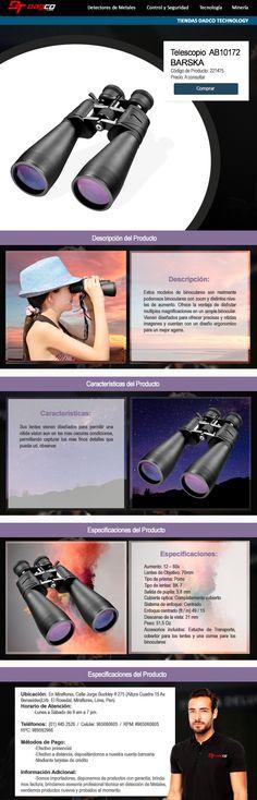 Estos modelos de binoculares son realmente poderosos binoculares con zoom y distintos niveles de aumento. Ofrece la ventaja de disfrutar multiples magnificaciones en un simple binocular. (Más información del producto en la página web)