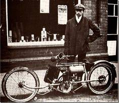 1909 Custom Vintage Motorcycle. Rare Vintage Motorycle, Custom motorcycle from 1909. Found Amongst The wonderful Vintage Vehicle collection of JUST A CAR GUY.