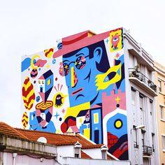 Urban art in lisboa the melting pot zones itinari. Mural Wall Art, Mural Painting, Graffiti Art, Urban Graffiti, Murals Street Art, Bedroom Murals, Chalk Art, Art Sketchbook, Public Art