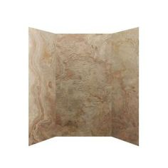 SoterraSlate 36 in. x 36 in. x 72 in. 3 Panel Shower Surround in Golden Sand-HDS3636-72-GS at The Home Depot