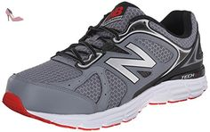 New Balance Men's M560V6 Running Shoe, Grey/Black/Red, 7 D US - Chaussures new balance (*Partner-Link)