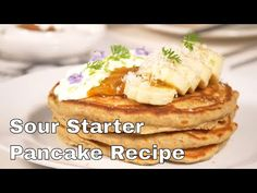 Sweet Cream Ricotta Pancakes Recipes - I am a full-on pancake snob. If I will eat pancakes, I don't want them to be the gummy ones that adhere to the roof of my mouth. Are you currently wit. Sweet Cream Pancakes Recipe, Different Types Of Bread, Kombucha Recipe, Real Maple Syrup, Ricotta Pancakes, Homemade Syrup, How To Make Pancakes, Food Tasting, Salted Butter