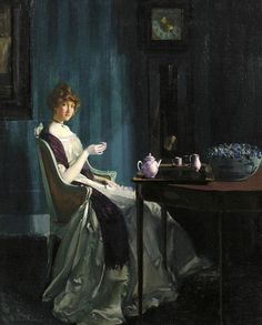 fleurdulys:  Afternoon Tea - Charles Bittinger 1912