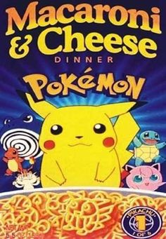 Pok�mon Macaroni & Cheese | 19 Cartoon-Themed Foods And Snacks From The '90s You Might Not Remember