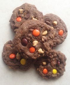 The Gold Lining Girl   Quadruple Peanut Butter and Chocolate Cookies   http://thegoldlininggirl.com