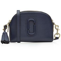 Marc Jacobs Shutter Small Leather Shoulder Bag (18.535 RUB) ❤ liked on Polyvore featuring bags, handbags, shoulder bags, blue, shoulder bag purse, leather shoulder handbags, real leather purses, genuine leather shoulder bag and leather shoulder bag