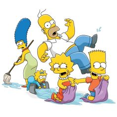 The Simpsons Tv Show, Simpsons Cartoon, Family Tv, Family Movies, Chief Wiggum, Van Houtens, Los Simsons, Simpson Wallpaper Iphone, Cartoon Shows