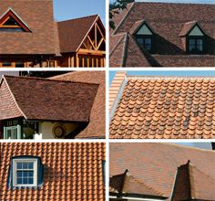Decorative Roof Tiles The Roof On This Americanstyle House Utilises Sprockets To Give A
