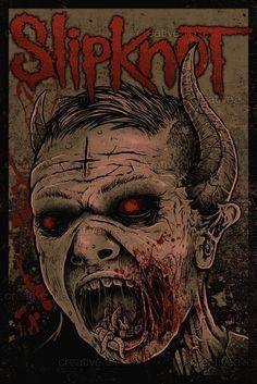 Slipknot Merchandise Graphic by Scotty Bates on CreativeAllies.com