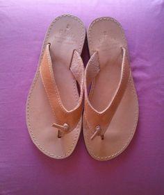 Sandales en cuir sandales de couleur naturelle par GreekSandalShop, $35.00
