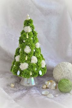 How to DIY Simple Pom Pom Christmas Tree | www.FabArtDIY.com LIKE Us on Facebook ==> https://www.facebook.com/FabArtDIY